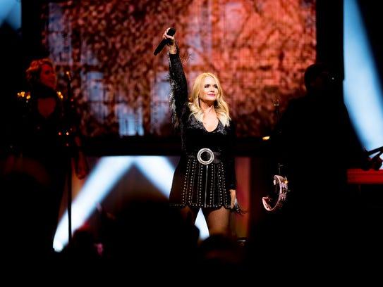 Miranda Lambert performs during her Livin' Like Hippies
