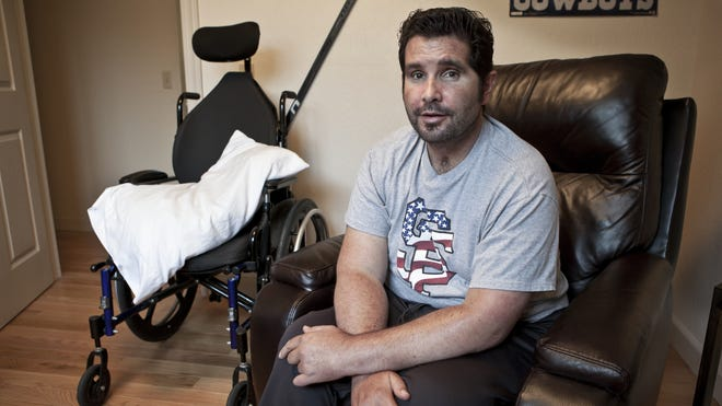 Bryan Stow, in this 2013 photo, was critically injured in a 2011 beating outside Dodger Stadium.
