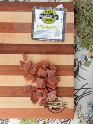 Cured meat from Hickory Nut Gap Farm.