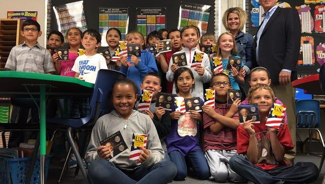 Members of Kristi Reid's third grade class at Sunset Elementary were visited by Congressman Steve Pearce.