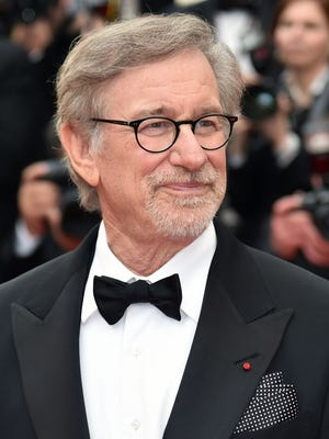 Steven Spielberg poses as he arrives for the Cannes Film Festival premiere of 'The BFG.'