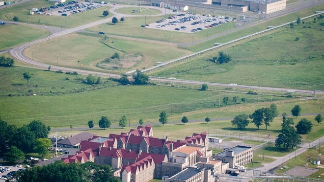 Wallkill Correctional Facility, a medium security prison, foreground, and maximum-security Shawangunk Correctional, background, are among several state prisons in the mid-Hudson.