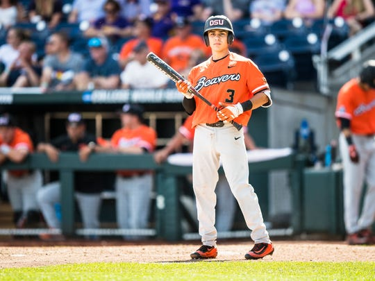 Oregon State second baseman Nick Madrigal was the No.