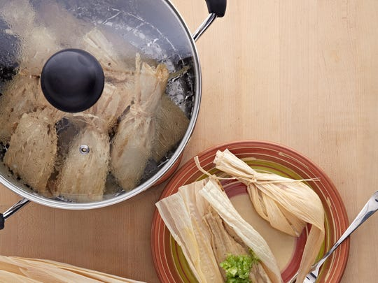 For perfectly steamed tamales, use this pot with steamer insert.