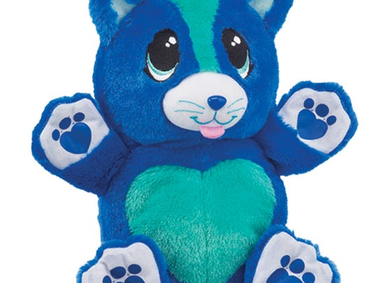 Berry Blue Kitty is one of the huggable, roll-able Ball Pets from Telebrands.