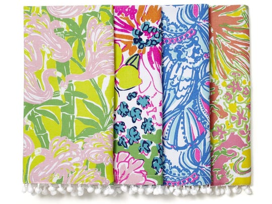 Four napkins from the Lilly Pulitzer for Target collection, $10
