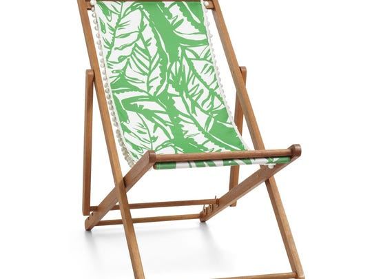 Teak beach chair from the Lilly Pulitzer for Target collection, $60.