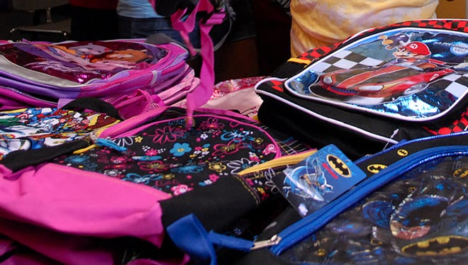 Backpacks ready for back to school.