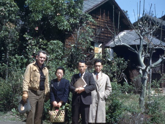 Dr. Austin with the Japanese aristocrats he met in