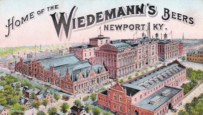 A postcard view of the former George Wiedemann Brewing Co. shows the brewery's campus in the early 20th century. The brewing company closed in 1983 but it's back in business and opening a new brewery and restaurant in St. Bernard