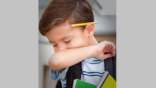 Children can attend school unless their symptoms – including coughing, sneezing, runny nose, scratchy throat and mild body aches – would keep them from participating in normal classroom activities.