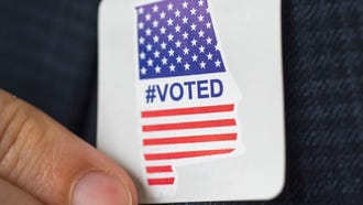 Alabama's new #Voted stickers have made it at least as far south as Auburn, Ala., as voters turn out to vote in the primary runoff election Tuesday, July 17, 2018.