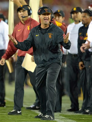 USC coach Steve Sarkisian appears to be on shaky ground after his team lost to unranked Washington on Thursday night.