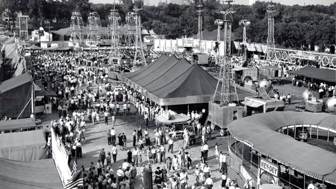 The Mid-America Fair used to draw people from all over the county and state to the fairgrounds that are now the grounds of the Stormont Vail Events Center.