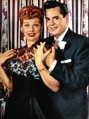 """Lucille Ball and Desi Arnaz, during the run of """"I Love Lucy."""""""
