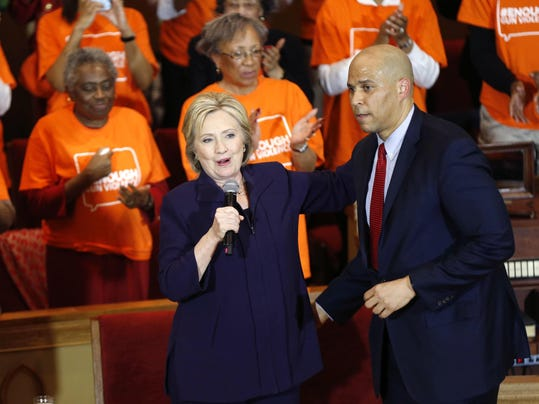 Hillary Clinton, Corey Booker
