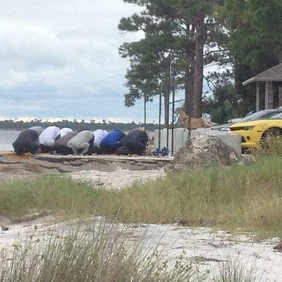 This photo of a group of people, who appear to be Muslims, has sparked a call-to-action from local talk-radio host and Wakulla County Sheriff candidate Will Dance.
