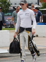 Josef Newgarden before the Texas race in which he was injured.