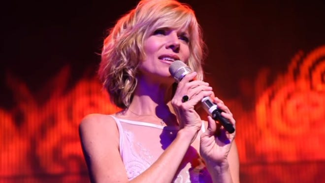Debby Boone performing at a recent concert