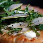 The pear and arugula flat bread pizza from Chef David Danielson of Churchill Downs. April 7, 2016