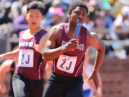 Ridgewood's Kobi Grant earned gold medals in the 100 and 200 meters at the Big North meet.
