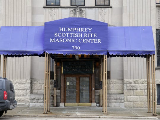 The Masonic center in Milwaukee where prosecutors say