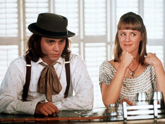 "Johnny Depp and Mary Stewart Masterson in ""Benny &"