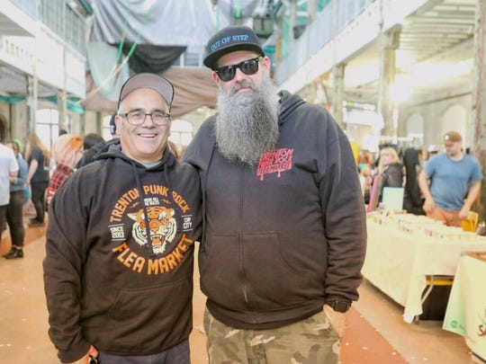 Trenton mayor Reed Gusciora (left) and Trenton Punk Rock Flea Market founder Joseph Kuzemka (right).