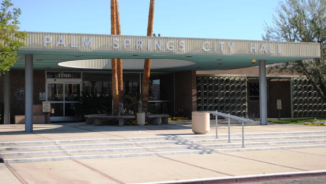 Palm Springs City Hall. Leaders appear split over whether to hire an in-house attorney.