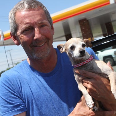 Jeff Buckman is reunited with Lola, a dog he lost three
