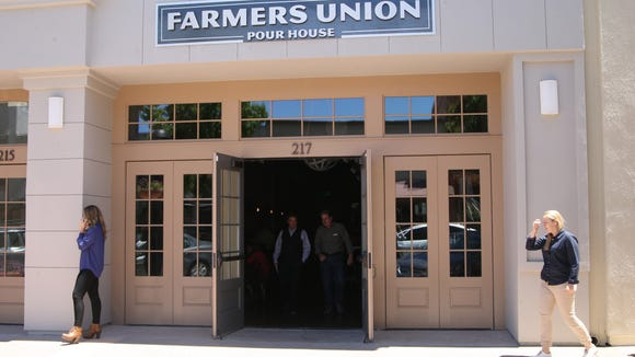 The Farmers Union Pour House on Main Street opened on Friday.