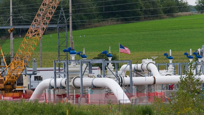 An Enbridge pipeline pumping station in eastern Dane County, where county officials have demanded that the company buy additional insurance to cover costs in the event of a spill.