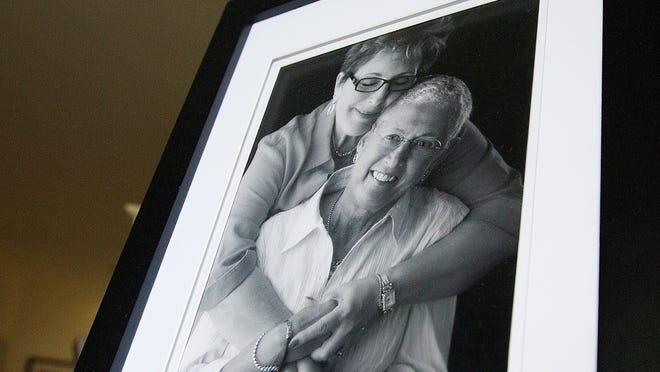 Arlene Goldberg and her wife, Carol