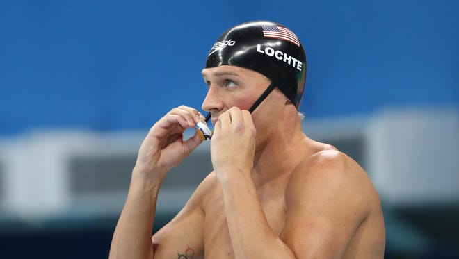 Ryan Lochte during the men's 200m individual medley final in the Rio 2016 Summer Olympic Games.