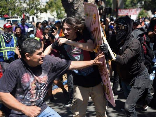 AP APTOPIX FREE SPEECH RALLIES A USA CA