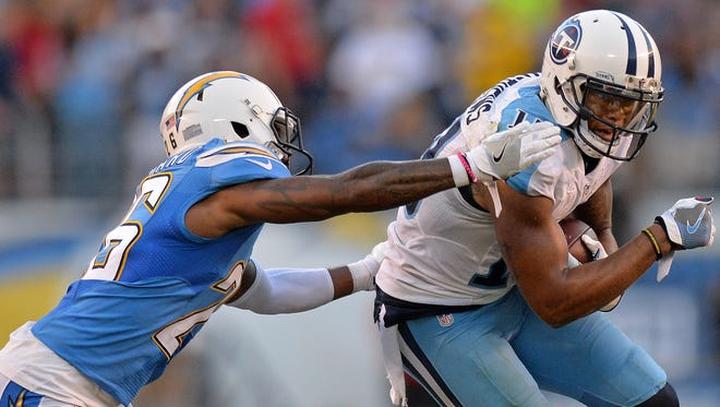 Titans wide receiver Rishard Matthews scored twice in a loss to San Diego.