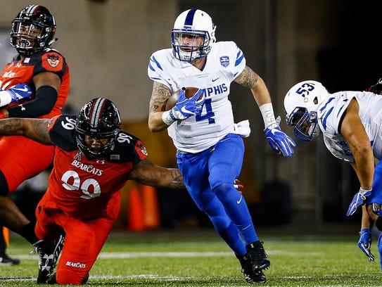 University of Memphis starting quarterback Riley Ferguson