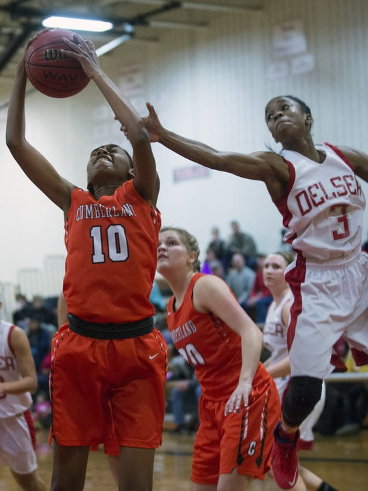 Delsea-Cumberland girls' basketball Wykira Johnson, Deja Robinson