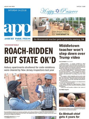 Today's front page, April 23, 2016