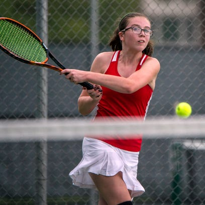 Wauwatosa East''s Mary McMahon competes during a match against Wauwatosa West on Sept. 19. The dual meet was rained out for the second time.
