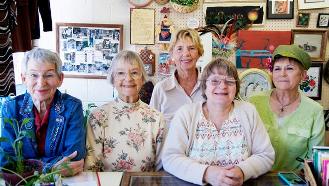 The Silver City Town and Country Garden Club awarded over $47,000 to more than 30 local non-profit groups in 2015. Officers of the club include, from left, Thrift Store Manager Martha Choquette, Secretary Harriet Rogers, President Jeannette Giese, Vice President Luanne Brooten and Treasurer Joella McNally.