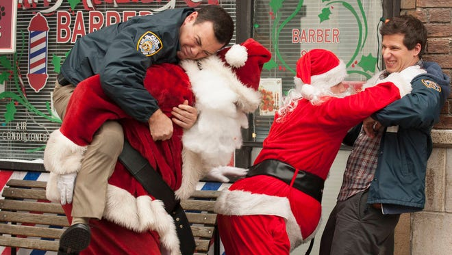 Two Santas wind up on the NYPD's naughty list in Tuesday's Christmas-themed episode of 'Brooklyn Nine-Nine.'