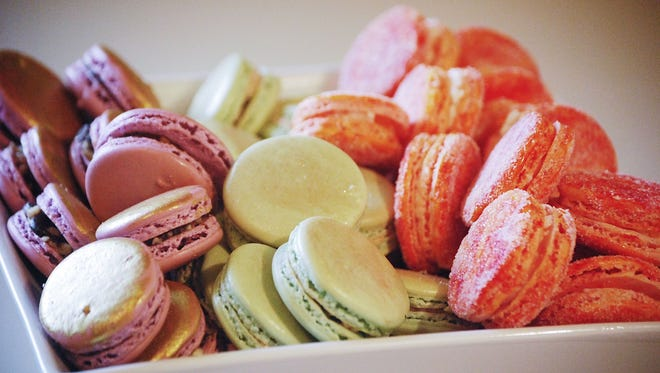 An assortment of macarons from Derby City Macarons.