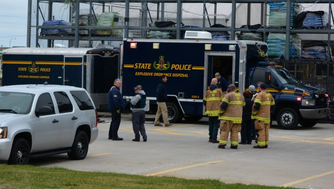 Delaware State Police's Explosive Ordnance Disposal unit was on the scene at Lowe's near Lewes to examine a suspicious item Monday, Dec. 28.