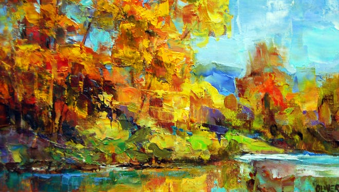 """Fall Along the River"" by Julie Ford Oliver will be featured at the Julie Ford Oliver Studio and Gallery during today's Downtown Ramble from 5 to 7 p.m."