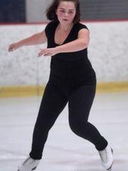 Figure skater Marlee Trager practices.