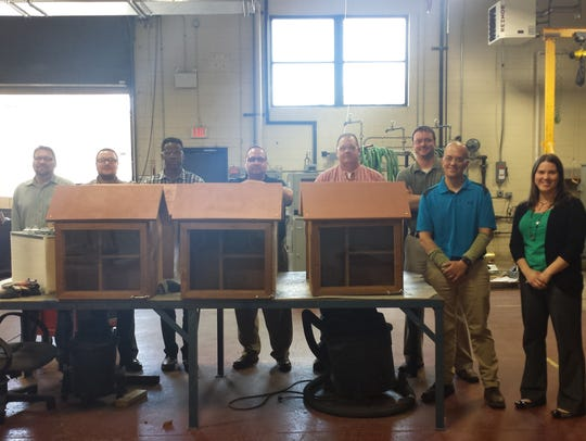 Greenheck employees built six little libraries for