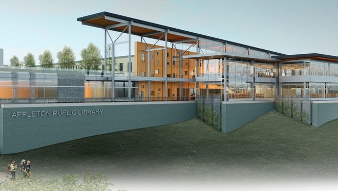 Artist rendering of the proposed Appleton Public Library.