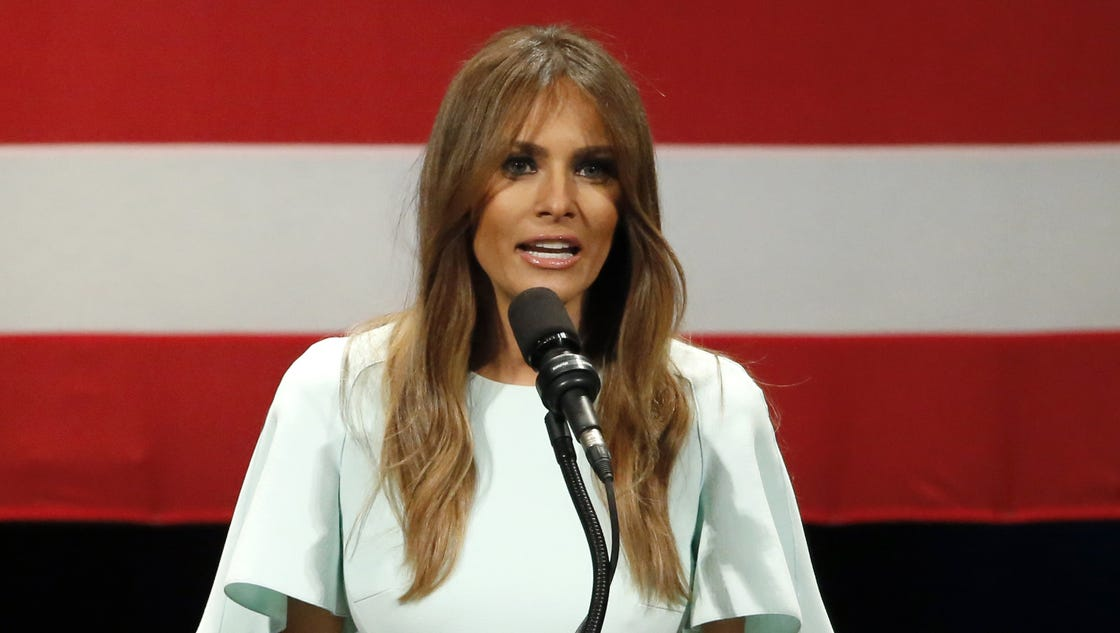 Melania Trump speaks to a nation that's rarely heard her voice