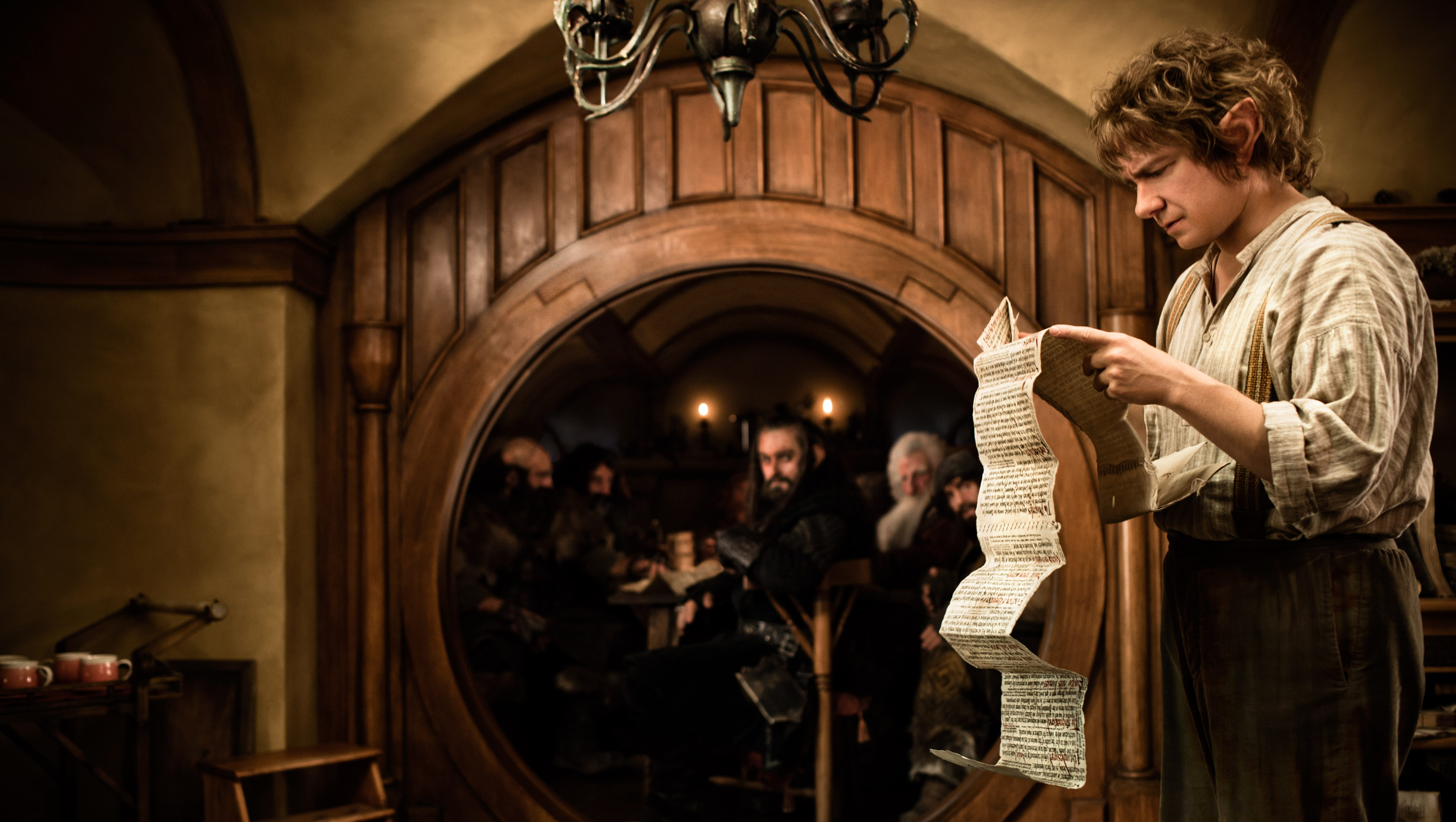 Martin Freeman plays Bilbo Baggins in a scene from the fantasy adventure 'The Hobbit: An Unexpected Journey,' the first of three in the film adaptation of J.R.R. Tolkien's classic.